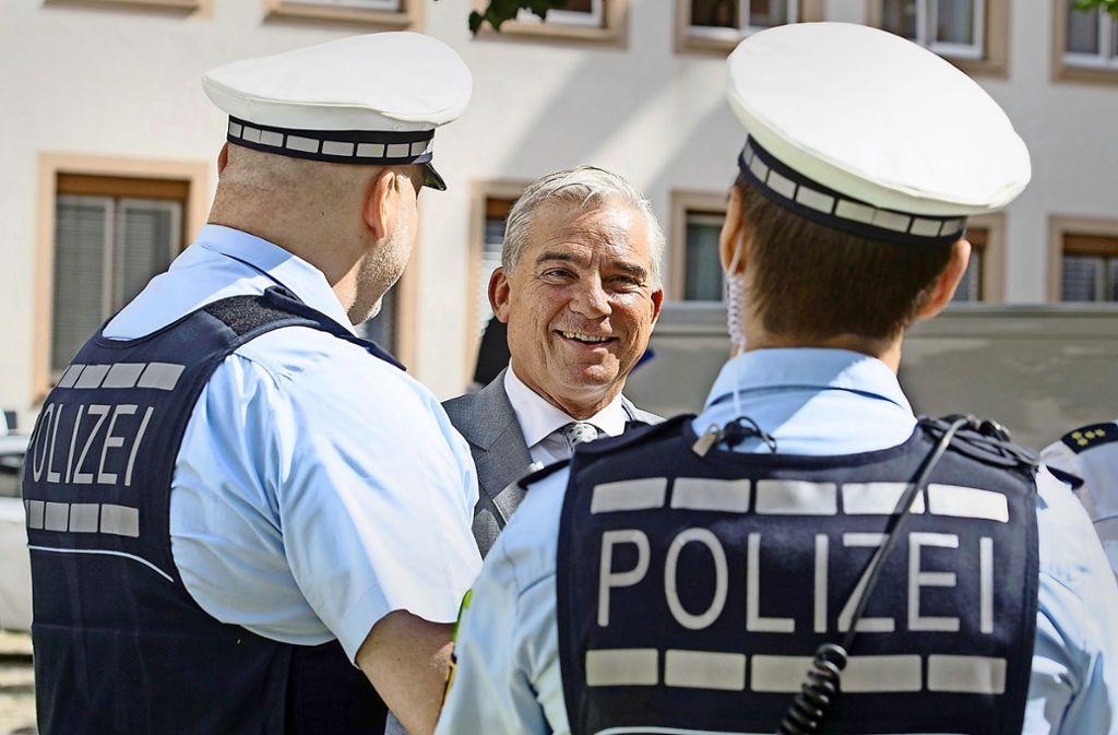 Innenminister Thomas Strobl (CDU) will die Befugnisse für die Polizei im Land ausweiten. Foto: dpa