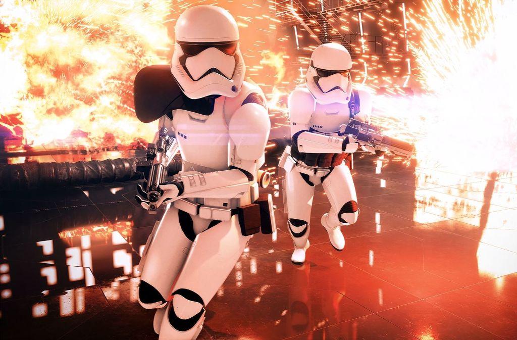 """Auf der Gamescom werden weitere Details zu """"Star Wars Battlefront 2"""" enthüllt. Welche Highlights noch gezeigt werden, zeigen wir in unserer Fotostrecke. Foto: Electronic Arts"""