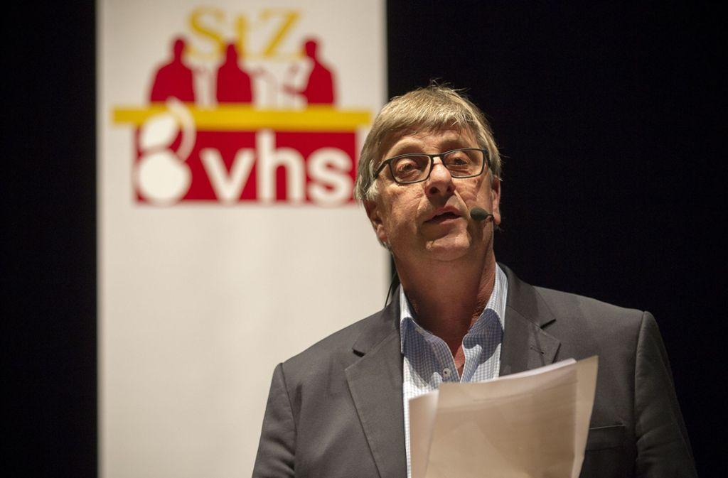 Der Politikredakteur Christoph Link diskutierte mit den Besuchern des Pressecafés von StZ und VHS über die neue Rechte in Europa. Foto: Lichtgut/Leif Piechowski