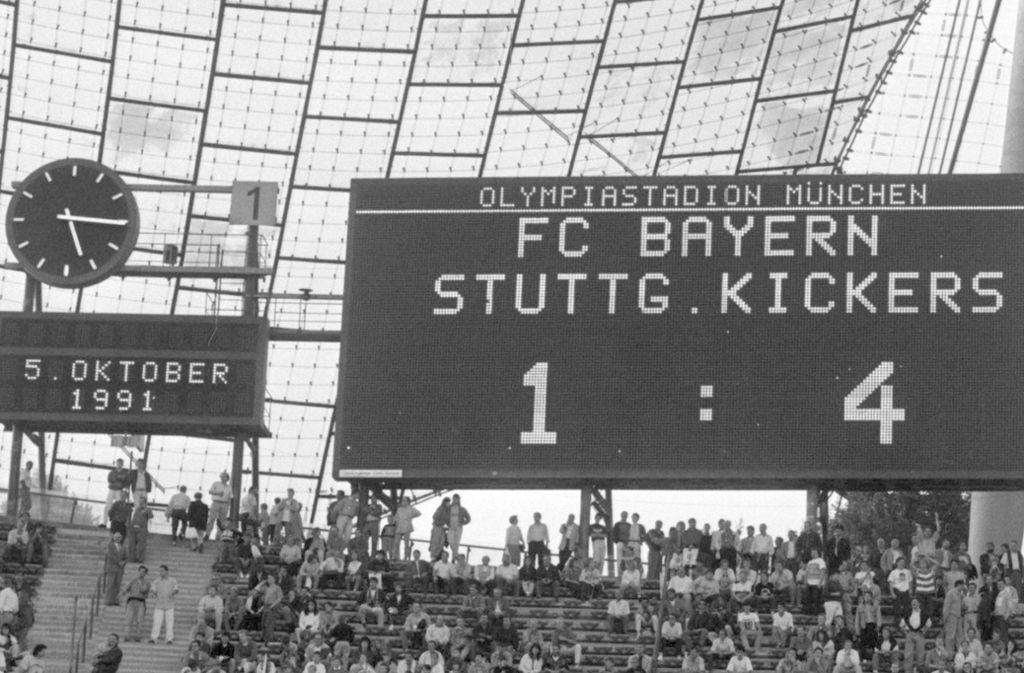 Ein Dokument der Zeitgeschichte, das alle blauen Herzen höher schlagen lässt: Der 4:1-Auswärtssieg der Stuttgarter Kickers beim FC Bayern. Foto: /Baumann