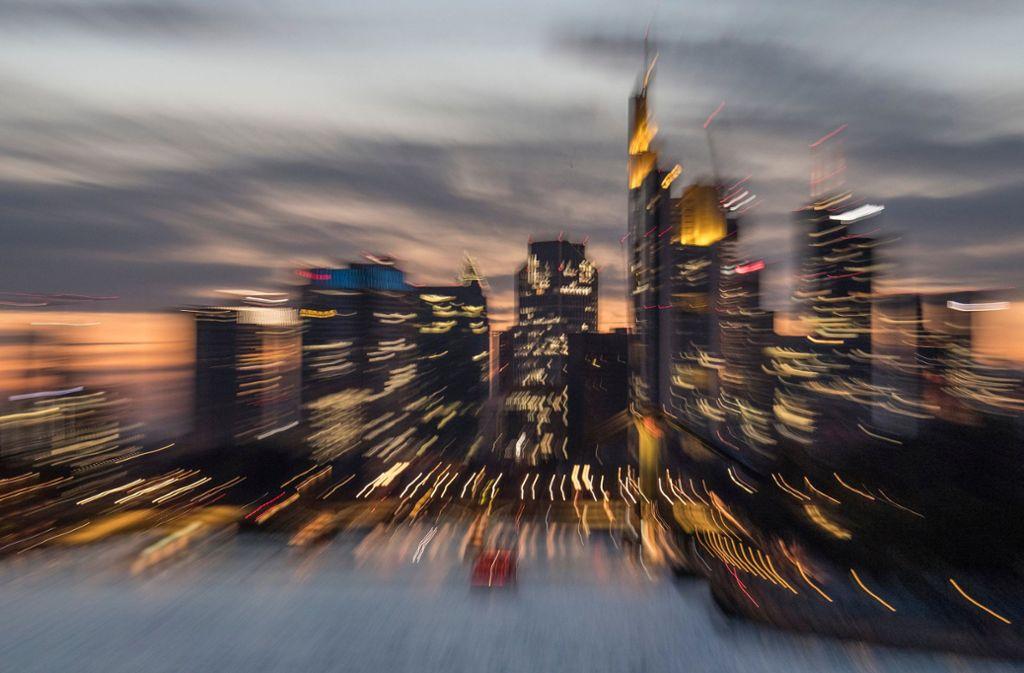 Die Bankentürme der Frankfurter Skyline. Foto: dpa