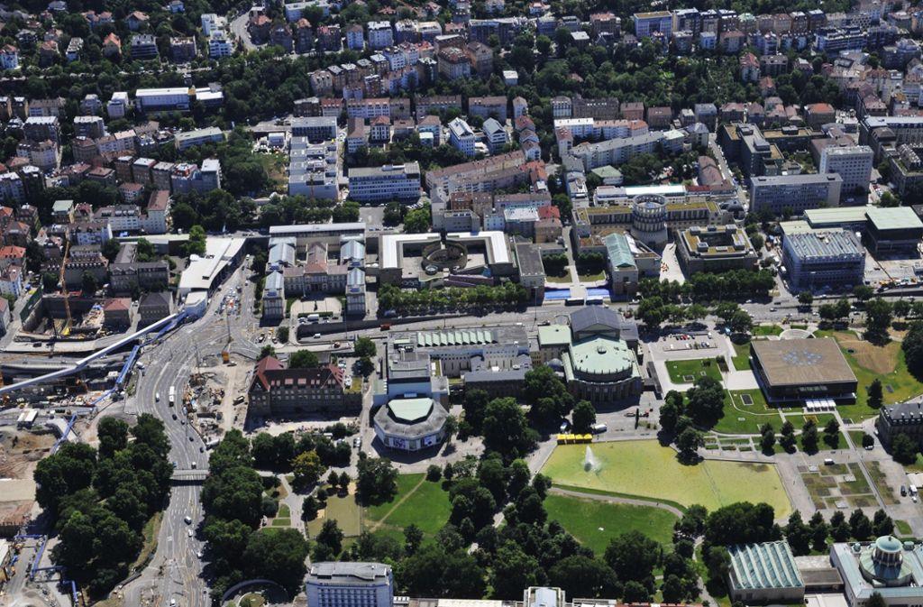 """Stuttgart, wohin? """"Über Stadtentwicklung muss geredet werden"""", sagt der Architekt Thomas Herrmann: Blick auf die Kulturmeile. Foto: Storck"""