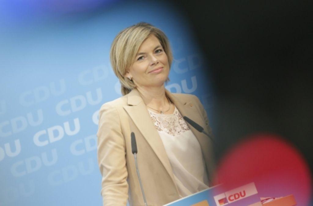Die rheinland-pfälzische CDU-Spitzenkandidatin Julia Klöckner hat ihre Teilnahme an der TV-Debatte vor der Landtagswahl im März abgesagt. Foto: imago stock&people