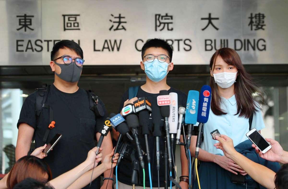Wie soll die Bundesregierung mit den Aktivisten der Demokratiebewegung in Hongkong (hier im Bild) umgehen? Und wie sich gegenüber Peking verhalten? Foto: dpa/May James