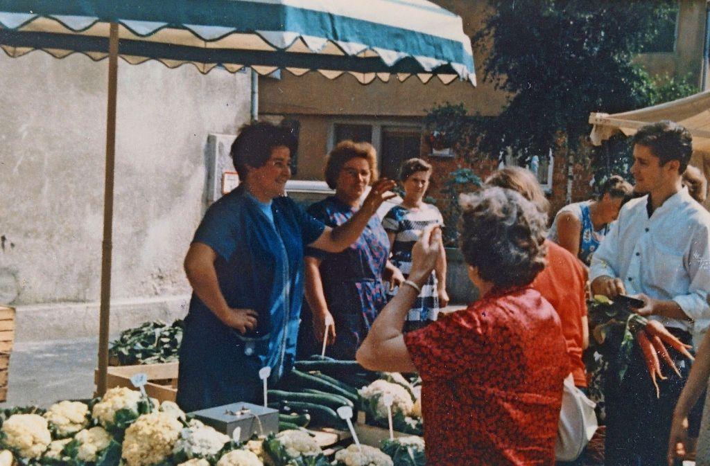 Ein Bild aus vergangenen Zeiten: Der Markt, wie er früher einmal war Foto: z