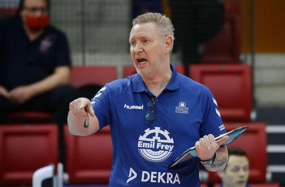 Chefcoach  Tore Aleksandersen kann nicht zufrieden sein. Foto: Pressefoto Baumann