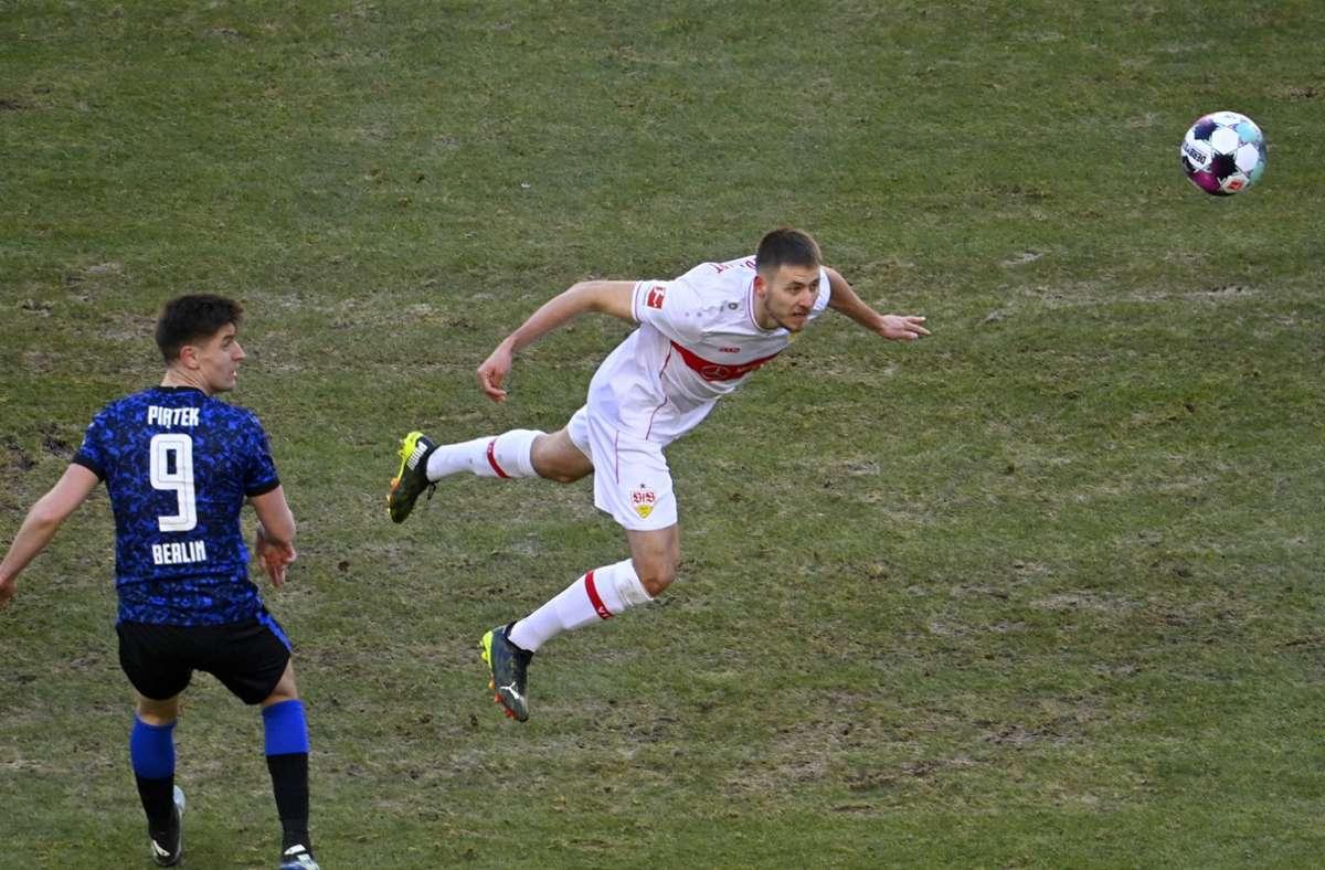 Waldemar Anton ist für den VfB Stuttgart auf dem Posten. Foto: imago images/Michael Weber IMAGEPOWER