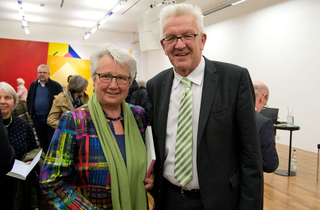 Annette Schavan und Winfried Kretschmann im Haus der Katholischen Kirche Foto: Lichtgut/Oliver Willikonsky