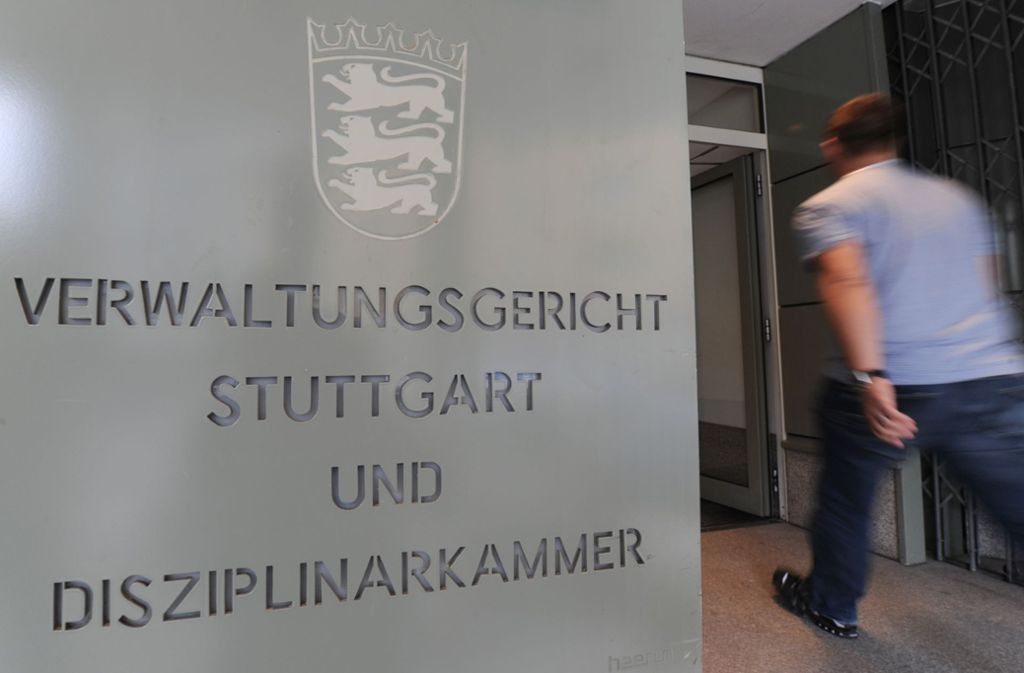 Das Verwaltungsgericht Stuttgart muss jetzt über die Klage des Professors entscheiden. Foto: dpa