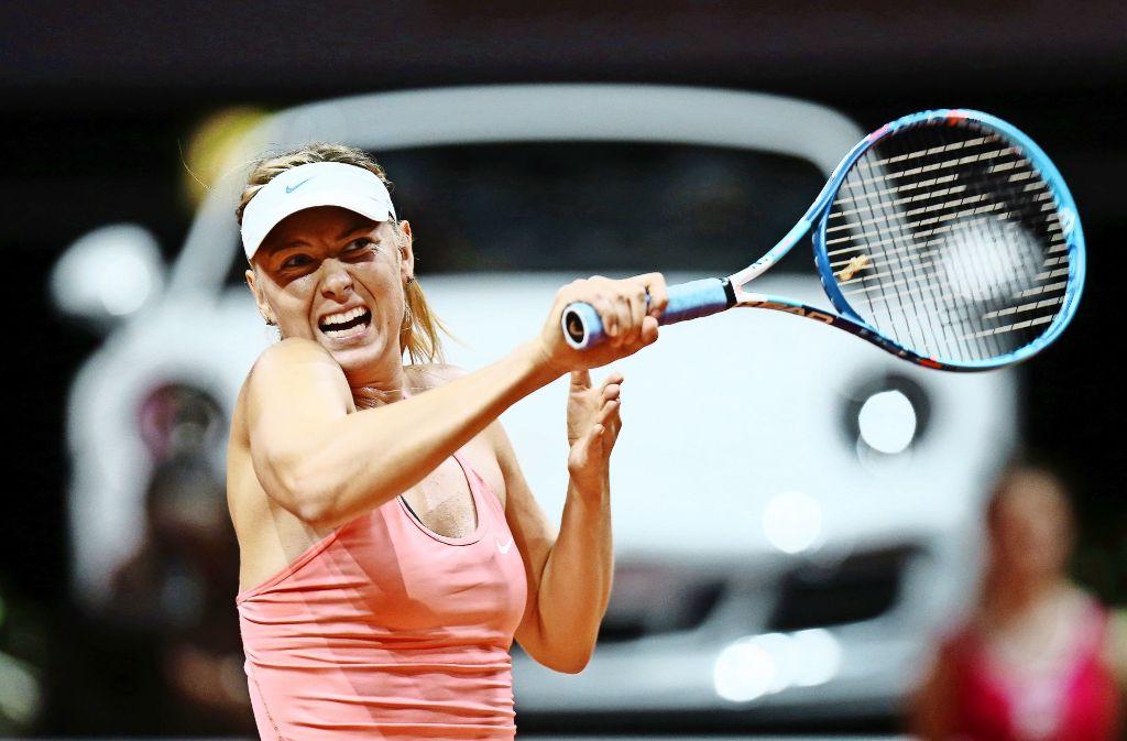 Zwangspause beendet: Maria Scharapowa schlägt wieder beim Turnier in Stuttgart auf, wo sie von 2012 bis 2014 siegte. Foto: Baumann