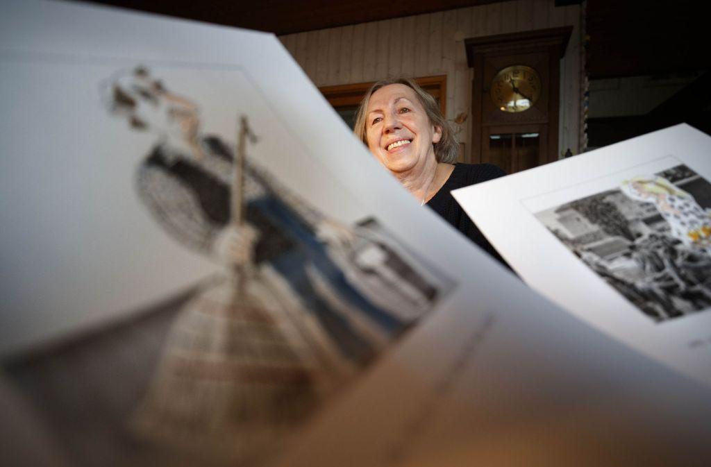 Für Gisela Pfohl gehört zum Zeichnen zum Tagesablauf Foto: Gottfried Stoppel
