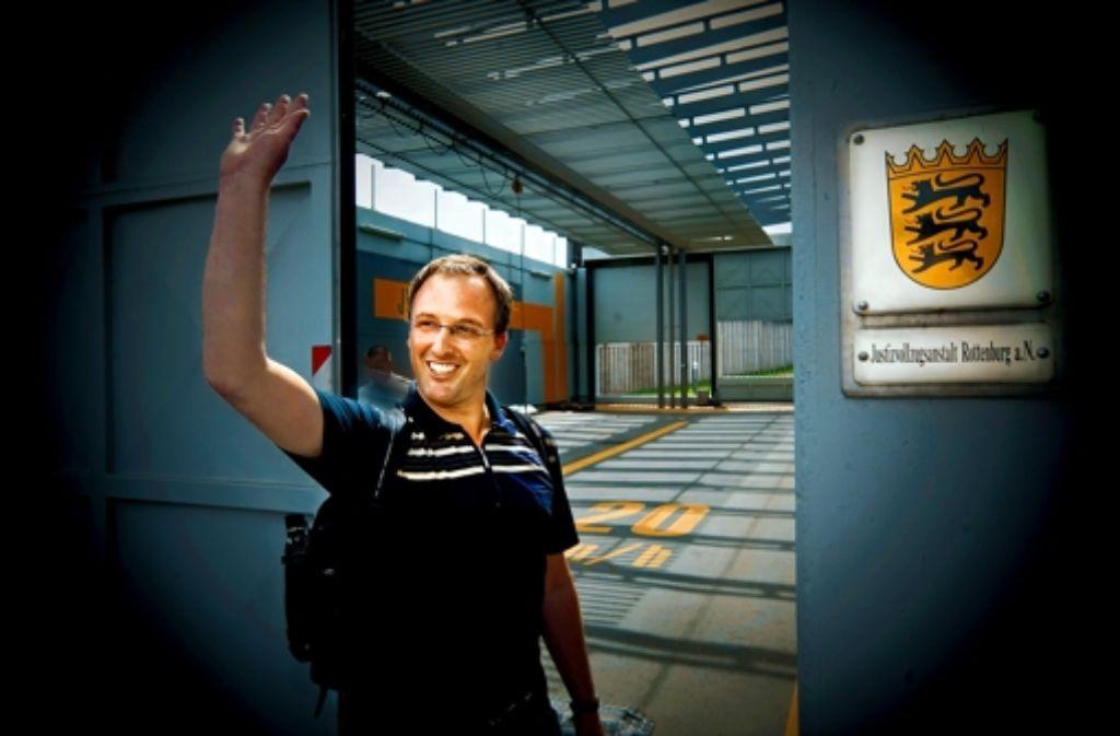 Mark Pollmann beim Antritt seiner zehntägigen Haft am 25. Mai. Foto: Horst Rudel