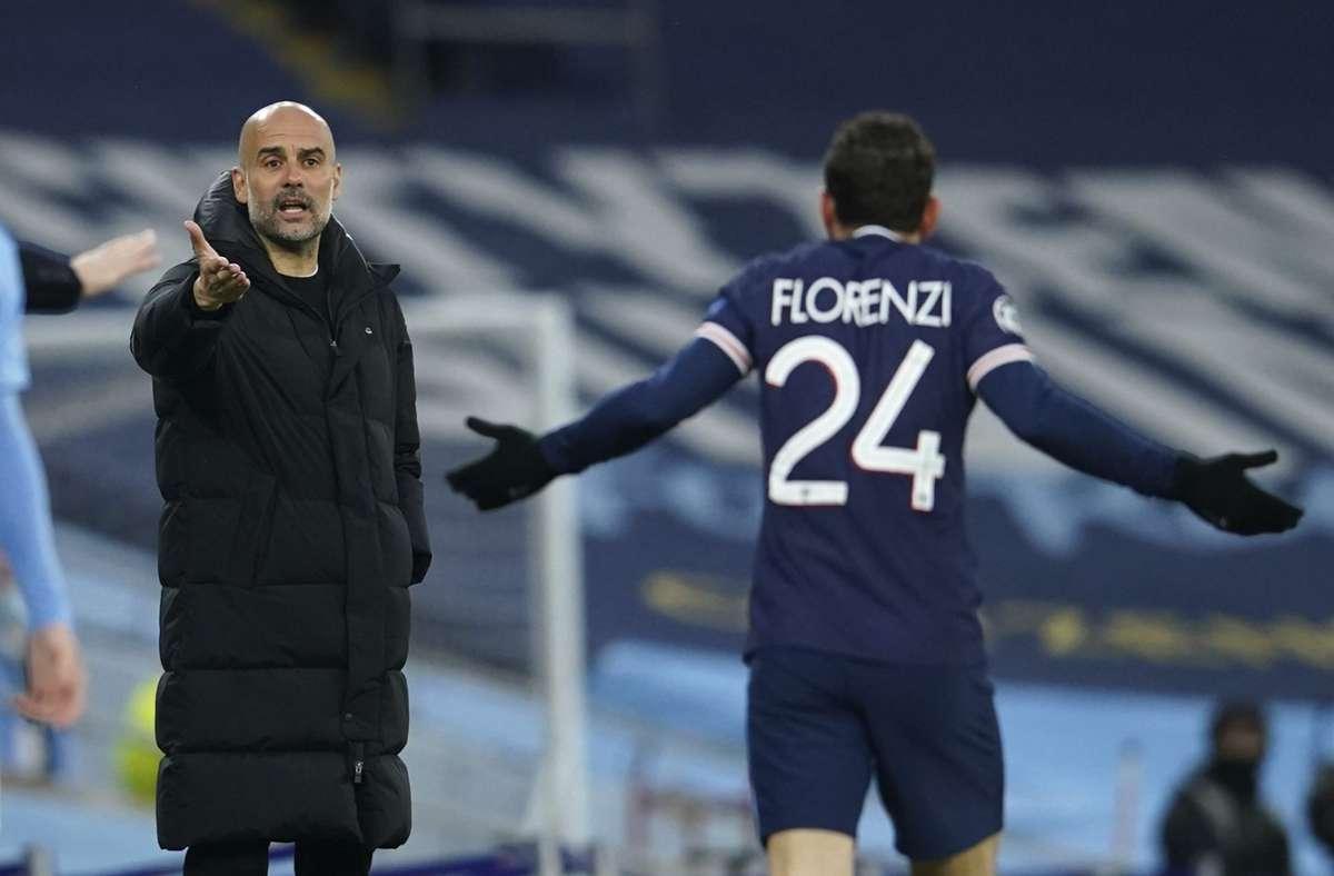 Durch die Tore von Riyad Mahrez (11. und 63.) ist es Guardiola gelungen, im fünften Jahr endlich mit City das Königsklassen-Finale zu erreichen. Foto: dpa/Dave Thompson