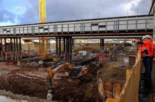 Offene Baustelle beim Projekt S 21
