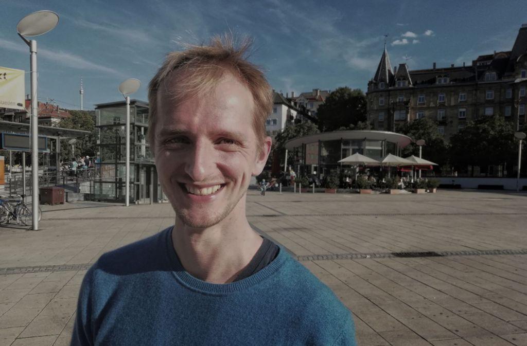 Thijs Lucas arbeitet bei Daimler. Trotzdem engagiert er sich für mehr Radverkehr in der Stadt. Foto: Hagen Kamieth/Luca Groß