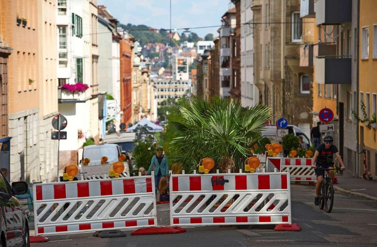 Während der Superblock-Woche war die Straße für Autos gesperrt. Foto: Lg//Leif Piechowski