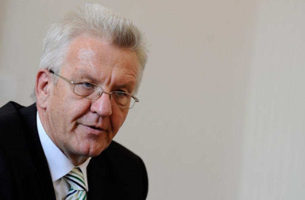 Die Zurückhaltung des Regierungschefs zu S 21 könnte sich bei der Stuttgarter OB-Wahl im Herbst rächen. Foto: dapd