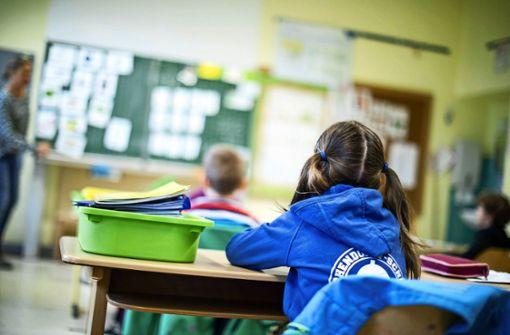 Grundschüler haben Präsenzunterricht