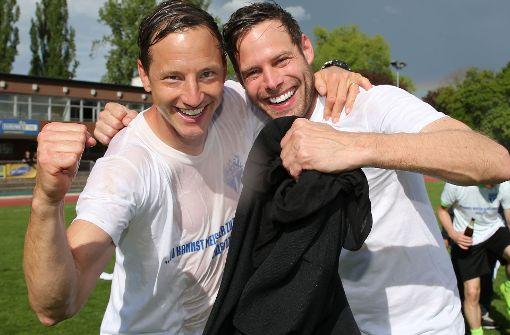 Meitermacher: Trainer Ramon Gehrmann (li.), Assistent Christian Werner. Foto: Baumann