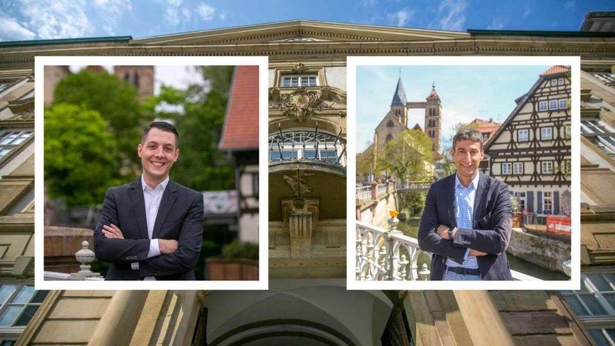Zwei aussichtsreiche Kandidaten sind noch im Rennen: Daniel Töpfer (links) und Matthias Klopfer (rechts).  Foto: Roberto Bulgrin/Collage: Patrick Kuolt