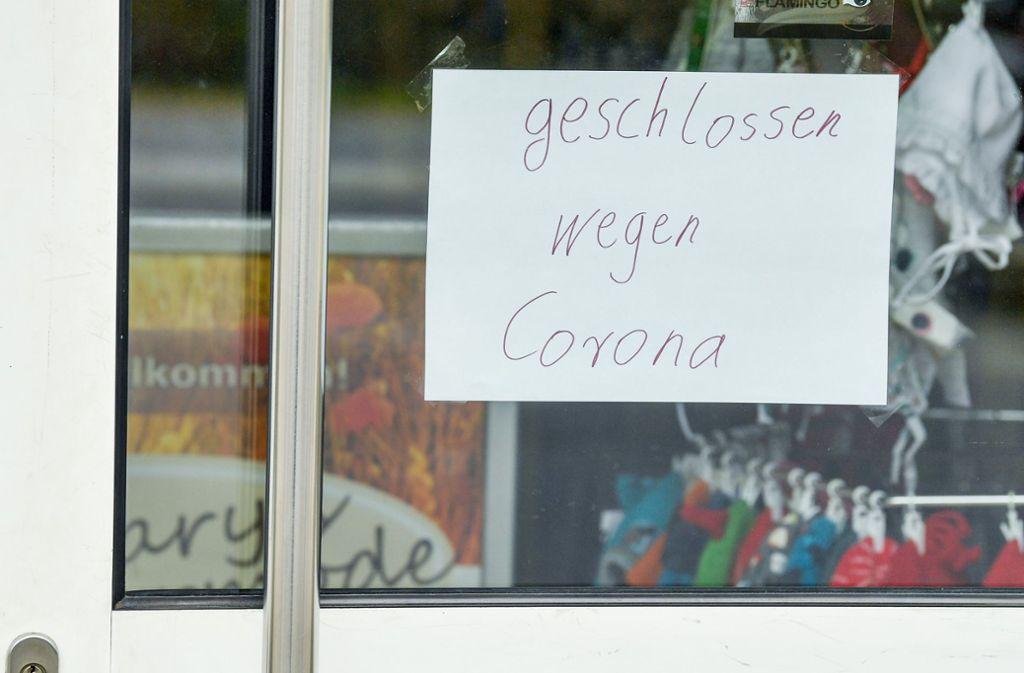 Seit Mitte März sind wegen Corona zahlreiche Einzelhandelsunternehmen geschlossen. Foto: dpa/Patrick Pleul