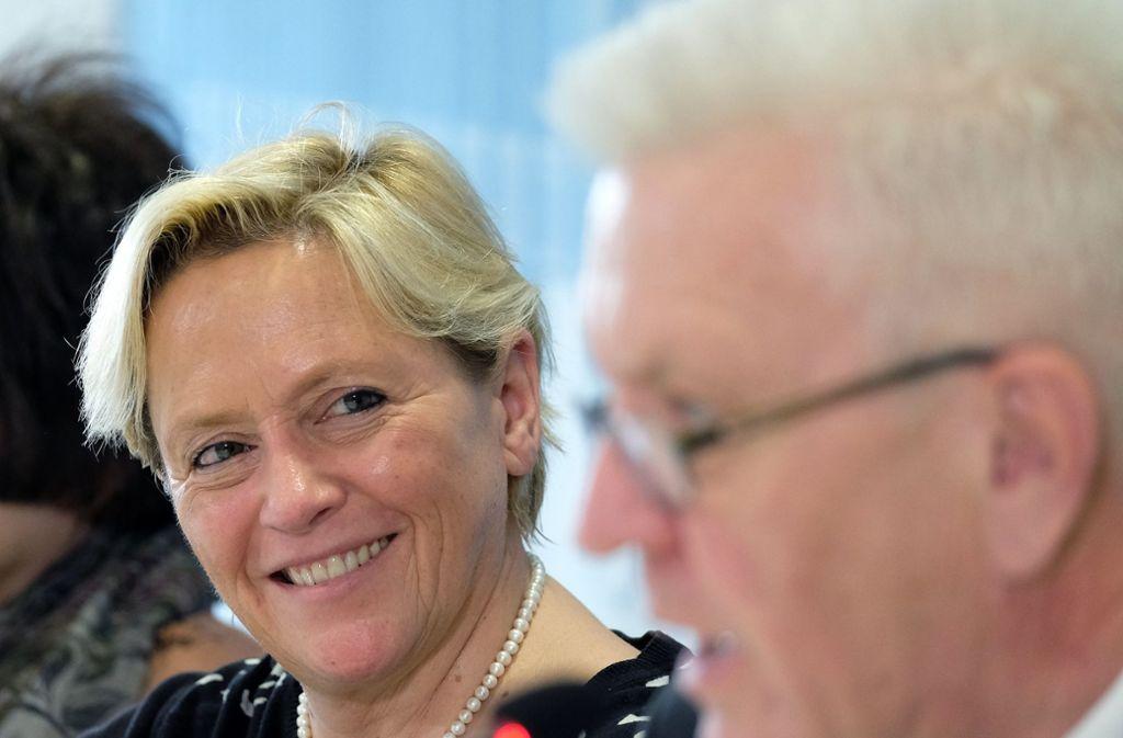Susanne Eisenmann tritt als CDU-Spitzenkandidatin an. Ihr Gegner könnte Winfried Kretschmann sein. Foto: dpa
