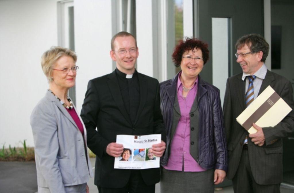 Gerlinde Kretschmann besucht das Hospiz St. Martin Foto: Achim Zweygarth