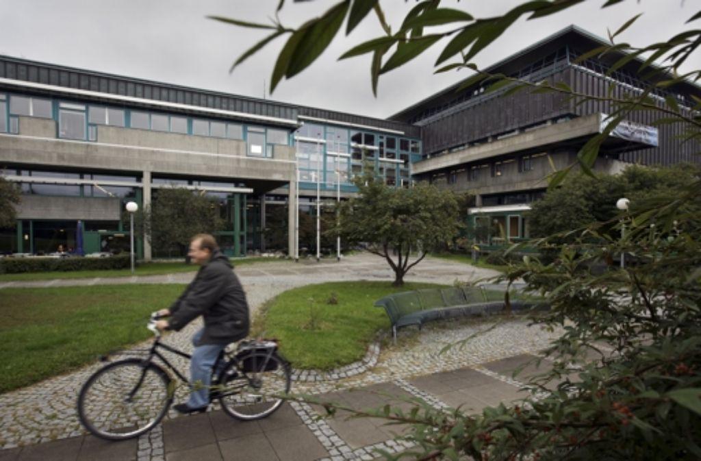 An der  Landesbibliothek lässt der Erweiterungsbau auf sich warten. Foto: Archiv