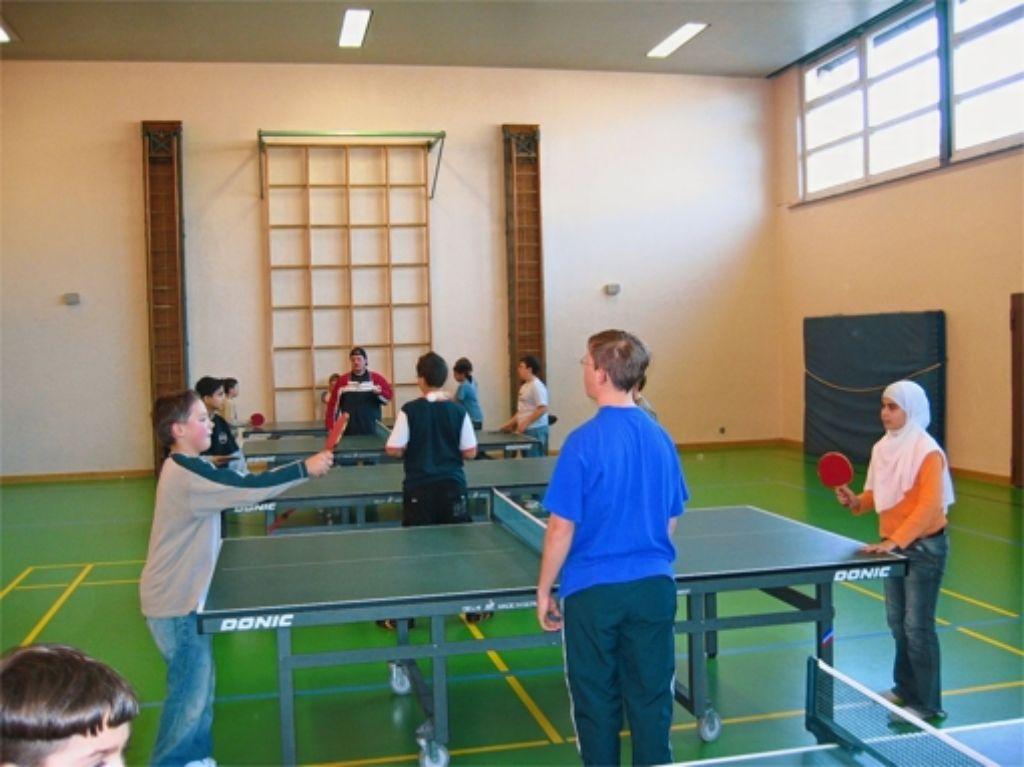Trainiert wird in der Rosensteinschule. Foto: TTC Stuttgart