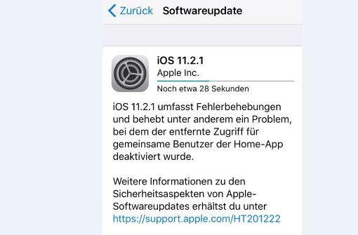 Apple schließt wichtige Sicherheitslücke