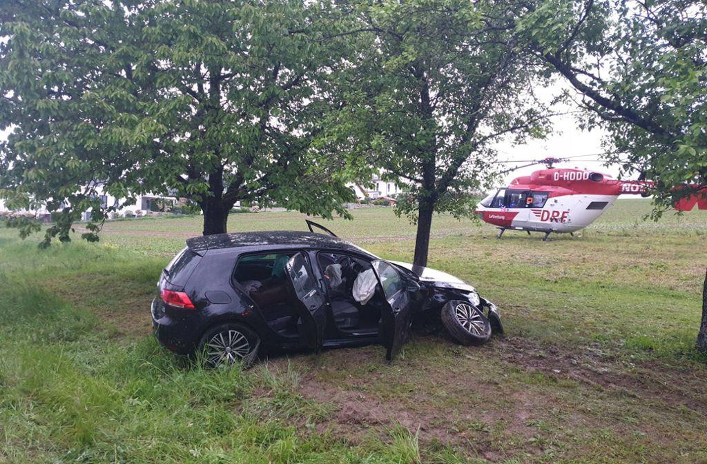 Bei dem Unfall wurde eine Person verletzt. Foto: 7aktuell.de/F. Hessenauer