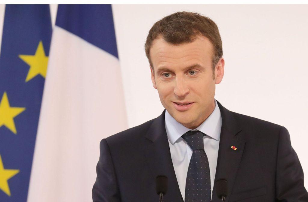 Frankreichs Präsident Macron will mehr Einfluss in der Europäischen Union. Foto: AFP
