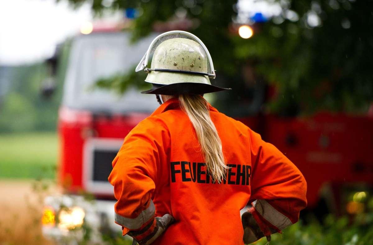 Einsatzkräfte aus drei Feuerwehren waren bei einem Gartenbrand im Kreis Ludwigsburg im Einsatz. Foto: picture alliance/dpa/Daniel Bockwoldt