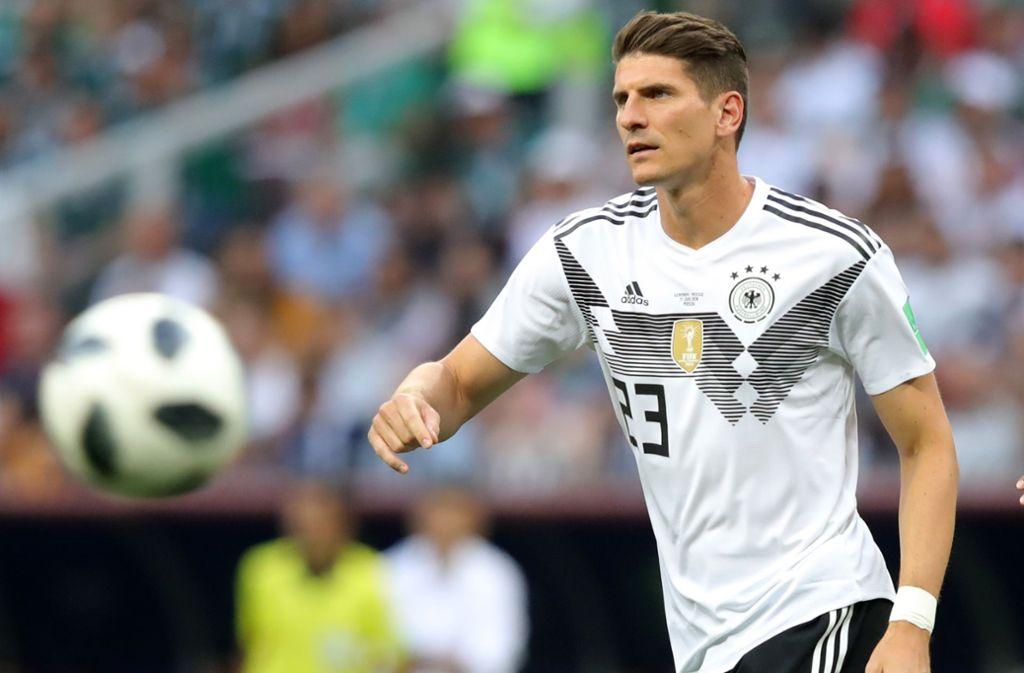 Mario Gomez stand im Auftaktspiel gegen Mexiko eine knappe Viertelstunde auf dem Platz. Foto: Getty Images Europe