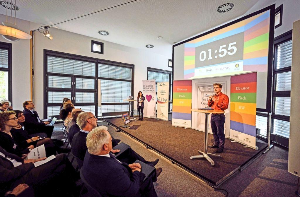 Auch Bonbons können eine Innovation sein: Beim Landesfinale war das Start-up Gmünder Bonbonmanufaktur dabei. Foto: Lg/Piechowski