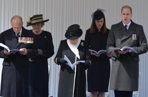 William nimmt an Gedenkfeier teil