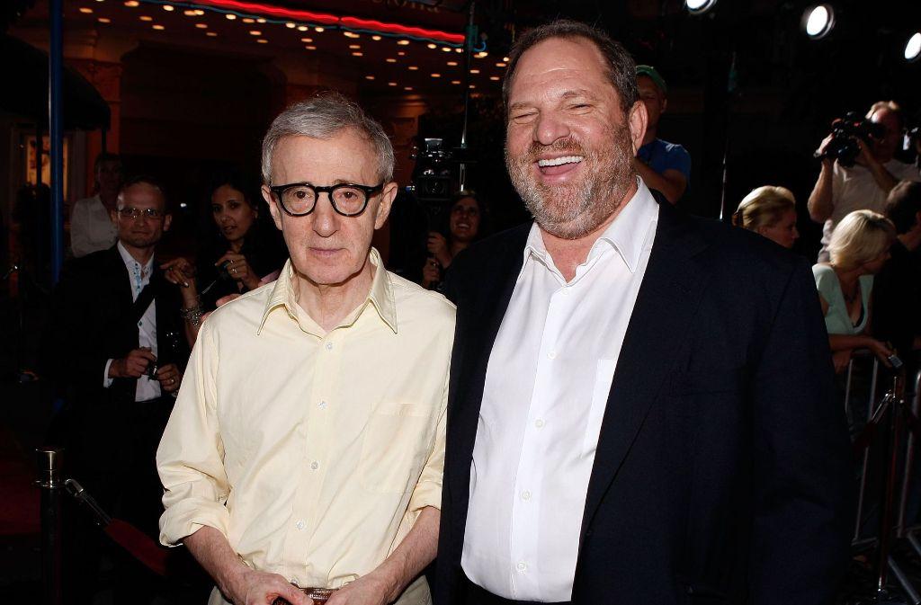 Regisseur Woody Allen (links) und Produzent Harvey Weinstein. Foto: Getty Images North America