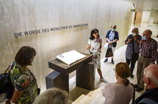 Warum sich die Landtagspräsidentin für den Oppenheimer-Platz einsetzt