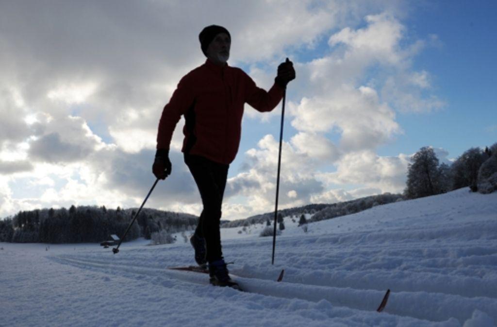 Auf Langlaufskiern sind viele unterwegs – eine Alternative ist das Wandern mit Schneeschuhen, das im Biosphärengebiet angeboten wird. Foto: Lenk
