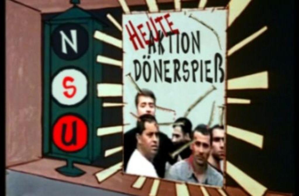 """Szene aus dem Bekennervideo des """"Nationalsozialistischen Untergrunds"""" (NSU), das von den Ermittlern in der Zwickauer Wohnung gefunden wurde. Foto: Der Spiegel"""