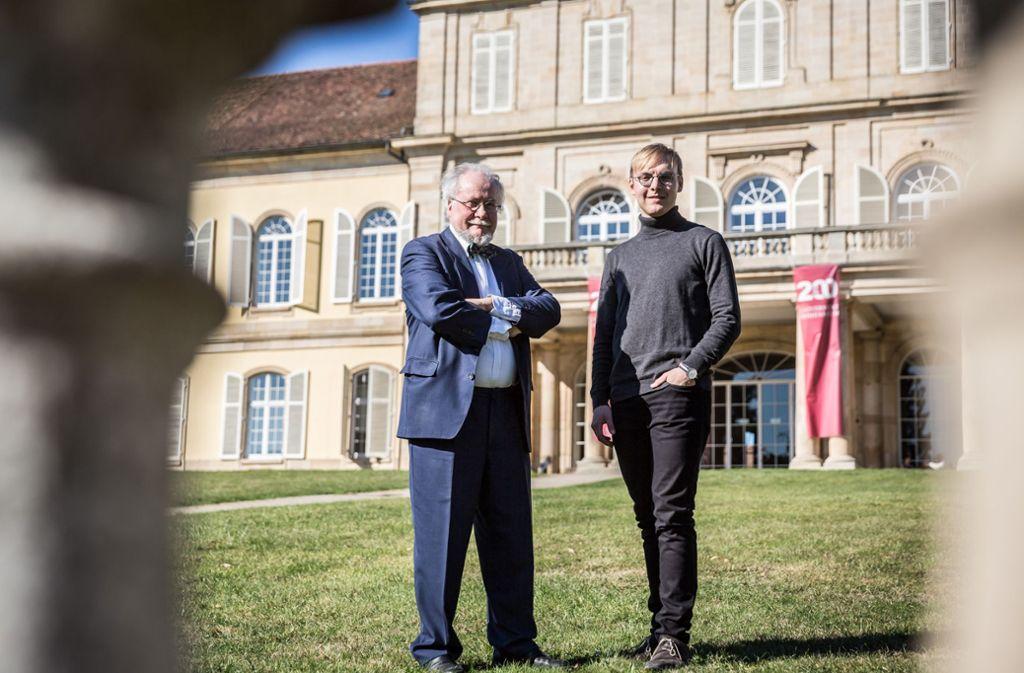 Viele Konzerte hat Walter Pfohl (links) in und um das Schloss dirigiert. Sein Nachfolger Sebastian Herrmann hat schon einige Ideen für den Chor. Foto: Lichtgut/Julian Rettig