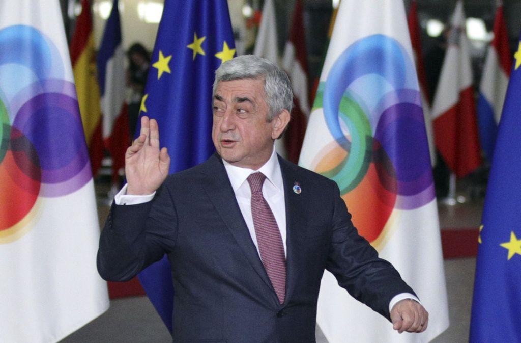 Sersch Sargsjan ist zurückgetreten. Foto: AP