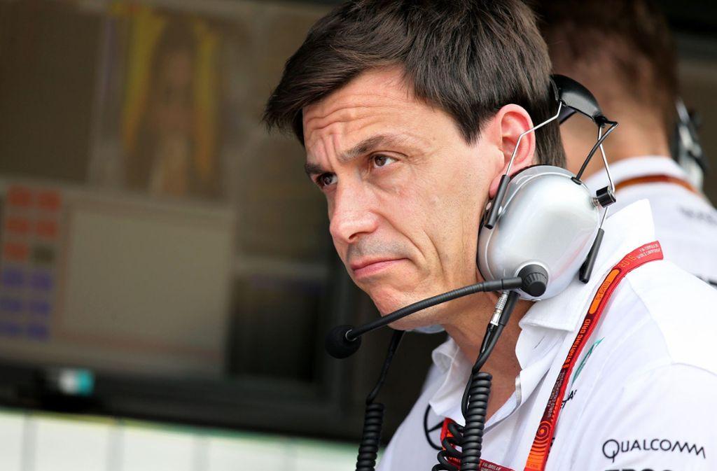 Mercedes-Motorsportchef Toto Wolff macht sich Sorgen wegen des bevorstehenden Brexits. Foto: dpa
