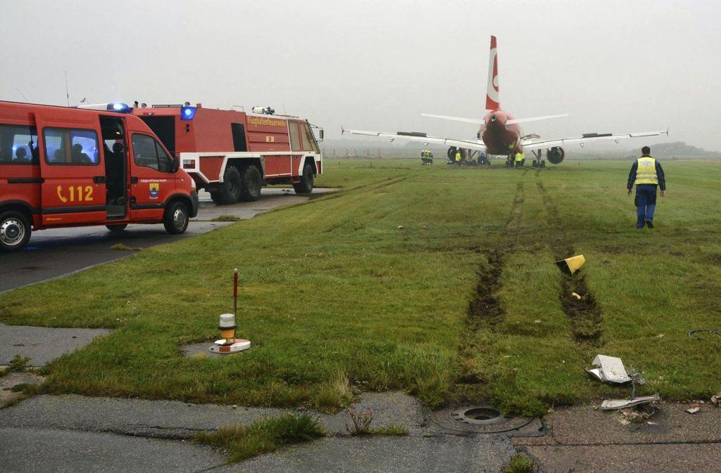 Eine Maschine von Air Berlin ist am Samstag über ihr Ziel hinausgeschossen. Foto: AP