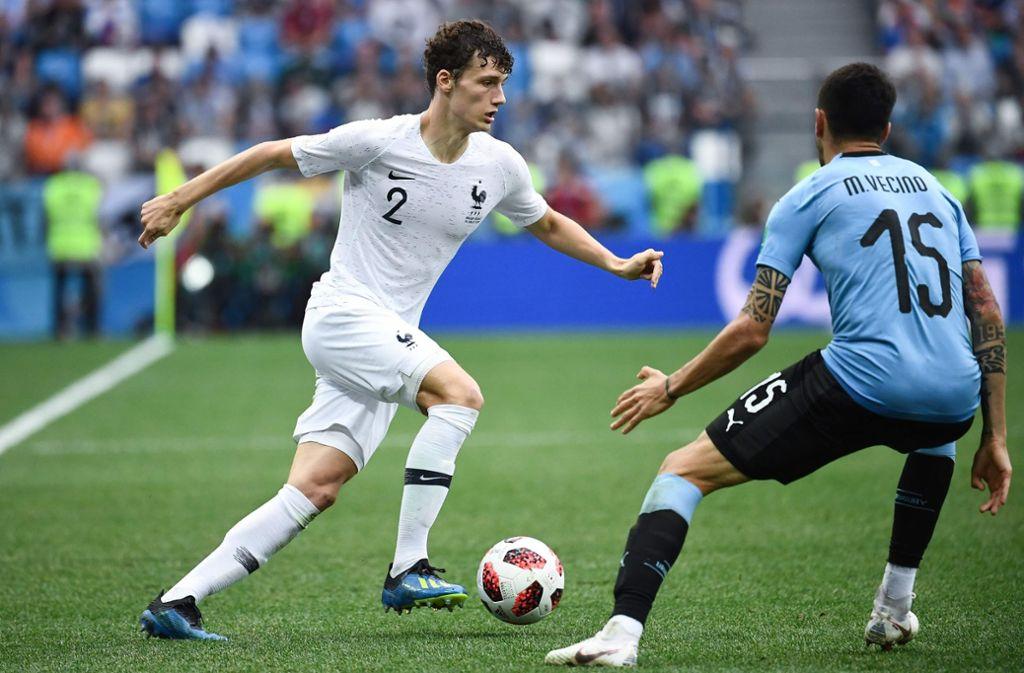 Benjamin Pavard vom VfB Stuttgart kämpft mit der französischen Nationalelf um den WM-Titel. Foto: AFP