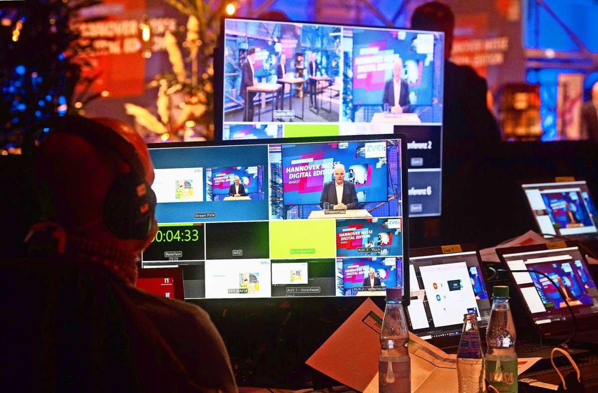Die Industriemesse in Hannover findet in diesem Jahr aufgrund der Coronapandemie rein digital statt. Foto: dpa/Julian Stratenschulte