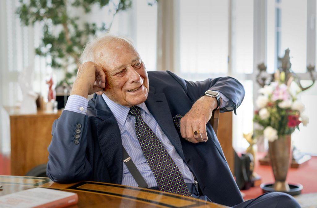 Auf der Liste der zehn Reichsten in Deutschland hat Reinhold Würth einen festen Platz. Noch immer hat er  in seinem Weltkonzern das letzte Wort. Foto: factum/Andreas Weise