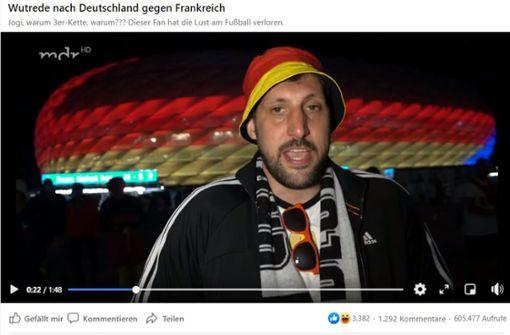 Wutrede auf DFB-Elf - Deutschland-Fan platzt der Kragen