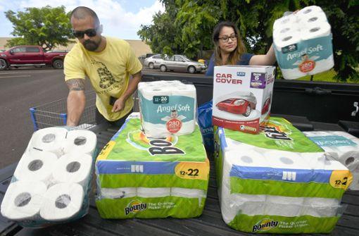"""Bewohner bereiten sich auf Hurrikan """"Lane"""" vor"""