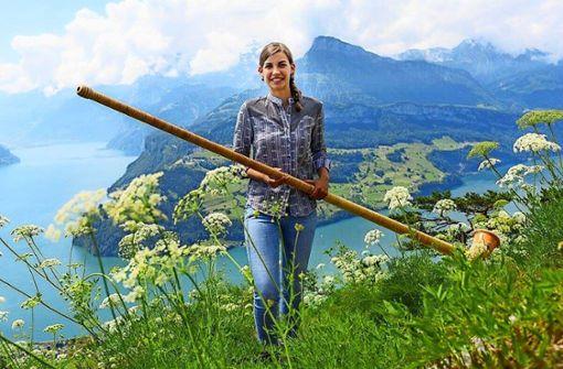 Die Stuttgarter freuen sich auf das Alphorn